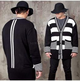 Striped Knit Cardigan 134