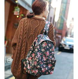 Retro Personality Casual Floral Backpack Shoulder Bag