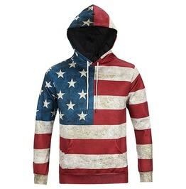 3 D American Flag Men Hoodies Sweatshirt