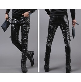 Punk Rock Leather Pant With Strings
