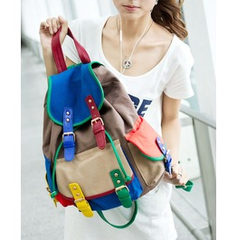 Colorful Canvas Bag Shoulder Bag Backpack