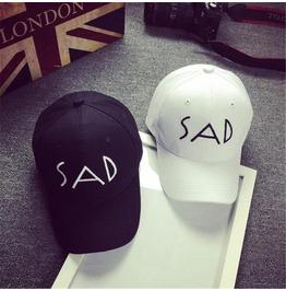 Sad Punk Black White Adjustable Mens Women Cap Hat