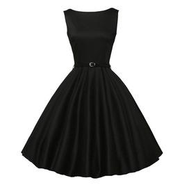 Vintage Party Bodycon Sleeveless O Neck Womens Skater Midi Dress