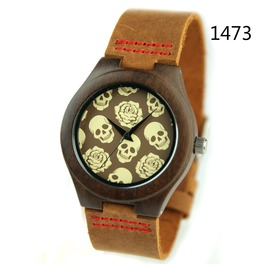 Unisex's Skull Printed Quartz Wristwatch Minimalist Connotation Watch
