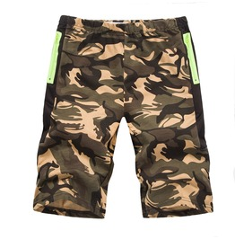 Men's Casual Contrast Pocket Camouflage Shorts