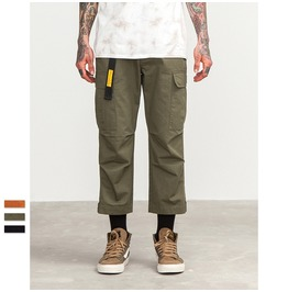 Men's Casual Cotton Solid Multi Pocket Cargo Pants