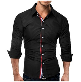 French Style Long Sleeves Men Shirt