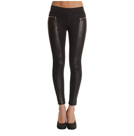 Sexy Patchwork Leather Women Leggings