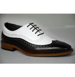 Handmade Men Two Tone Formal Shoes, Men Spectator Shoes, Men Dress Shoes
