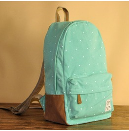 Fashion Wave Point Backpack Bag