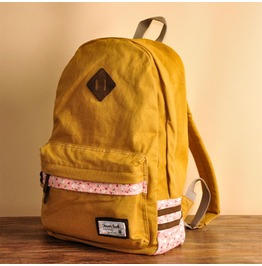 Fashion Floral Backpack Bag Yellow