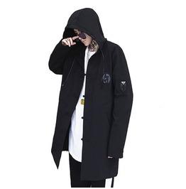 Men Long Jacket Hooded Stylish Streetwear
