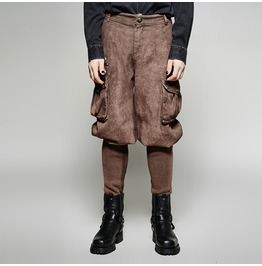 Exquisite Steampunk Small Bottom Motocross Pants With 3 D Pockets