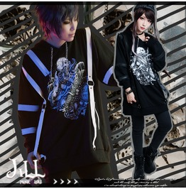 Punk Rock Romancing Demon Spawn Leather Strap Chain String Hoodie Jag0062