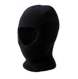 Adventure Woollen Black Open Face Thermal Balaclava