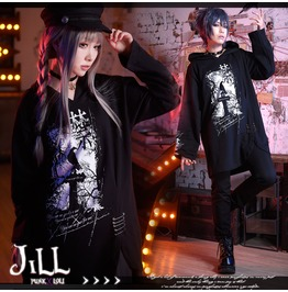 Punk Anime Pet Cemetery Chinese Curse Spell Safepin Long Hoodie Jag0070