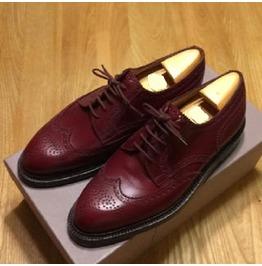 Handmade Men Wingtip Brogue Formal Shoes, Men Burgundy Color Dress Shoes