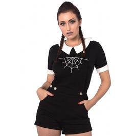 Banned Apparel Black Webb Dungaree