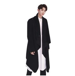 Men Wool Coat Casual, Punk Style, Long Sleeve