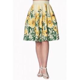 Banned Apparel Sunflower Retro Custard Skirt