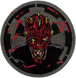 Darth Maul Zombie Embroidered Patch 7.5cm Dia