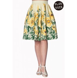 Banned Apparel Sunflower Retro Custard Skirt Plus Size