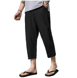 Solid Color Linen Men's Lose Harem Pants