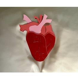 Anatomical Heart Goth Greeting Card