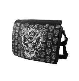 All Seeing Eye Messenger Shoulder Laptop Bag Occult Symbol Biker Metal Goth