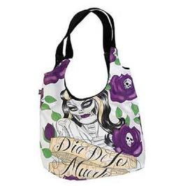 Gothic Dia Des Los Muertos Canvas Shoulder Bag