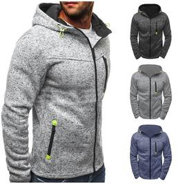 Darksoul New Men Winter Hoodie Warm Hooded Sweatshirt Coat Jacket Outwear