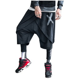 Men Punk Style Pants Streetwear Casual Fashion