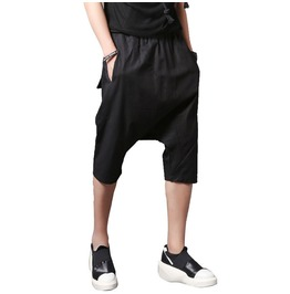 Linen Street Fashion Loose Jogger Men Sweatpants