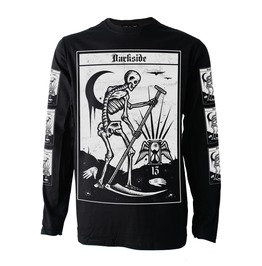Death Tarot Card Long Sleeve T Shirt Top Biker Goth Metal Satan Occult