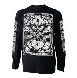 Baphomet Long Sleeve T Shirt Top Biker Goth Metal Satan Occult