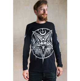 Baphomet Pentagram Long Sleeve T Shirt Top Biker Satan Occult Xl, Xxl