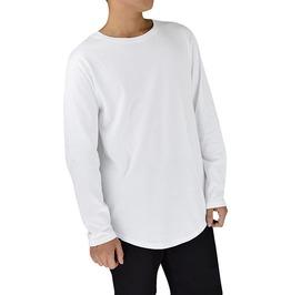 Streetwear Men's Extended Long Sleeve Side Zipper Shirt