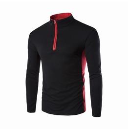 Trendy Fashion Zipper Men Polo Shirt