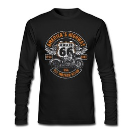American Highway Route 66 Long Sleeves Men T Shirt