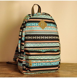 Fashion Knitted Backpack Bag School Bag Green Color