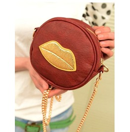 Fashion Lips Coin Purse Messenger Bag Handbag
