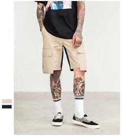 Men's Side Stripe Pocket Patch Cargo Shorts