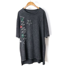 Women's Stars Hot Drilling Embroideried Loose T Shirt