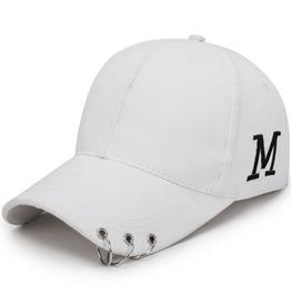 Unisex's Letter M Embroideried Hoop Baseball Cap