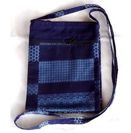 "Cute Hippie Boho Shoulder Zippered Tote Thai Fabric Purse 6.5"" X 8.5"""