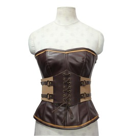 Steampunk Overbust Corset & Detachable Waist Belt