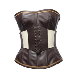 Steampunk Overbust Corset And Detachable Belt