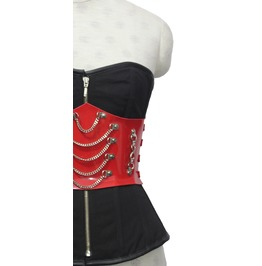 Gothic Overbust Corset With Waist Belt