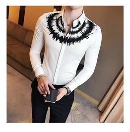 Darksoul New Shirt Long Sleeve Black White Men Shirts Mens