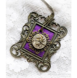 Dragonfly Antique Clockparts Steampunk Necklace